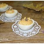 Яйца, фаршированные тыквенно-майонезной начинкой