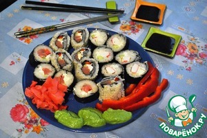 Рецепт Домашние роллы и нигири суши
