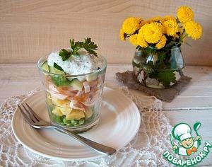 Рецепт Салат с курицей, картофелем и зеленым горошком