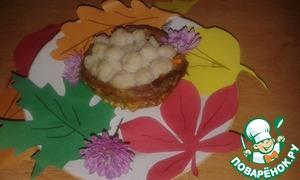 Рецепт Мясное лукошко с луковыми колечками