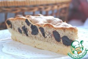 Рецепт Вишневый пирог с кунжутной мукой