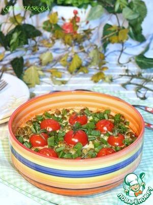 Рецепт Запеканка из кабачка и зелёного горошка