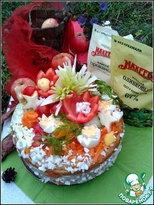 Рецепт Закусочный торт с мясным суфле