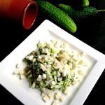 Салат овощной с брынзой
