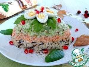 Рецепт Рыбный салат с рисом-микс, сельдереем и грецким орехом