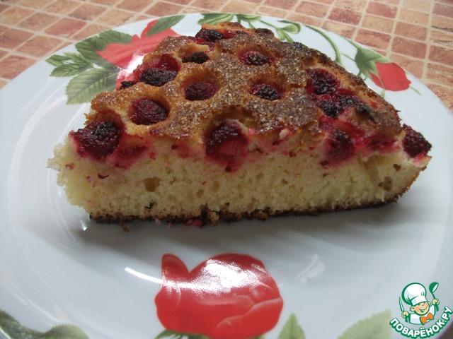 Пирог на кефире с малиновым вареньем рецепт пошагово