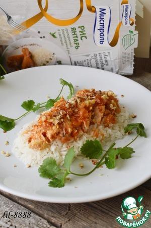 Рецепт Куриное филе в томатном соусе с грецкими орехами