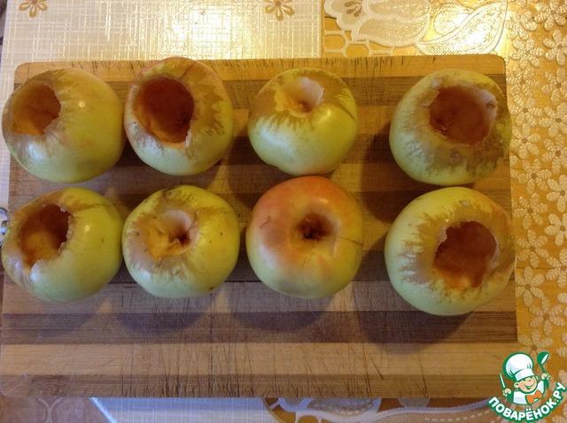 Печёные яблоки с бананом в духовке рецепт