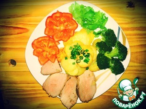 Рецепт Буженина по-домашнему с чесноком и картошкой