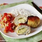 Куриные фрикадельки с сулугуни или моцареллой