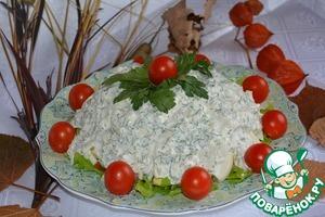 Рецепт Салат из форели с беконом и авокадо