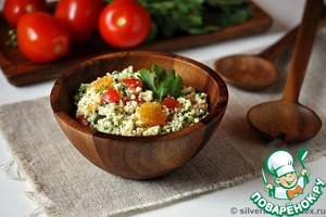 Рецепт Салат из пшена с помидорами и апельсином