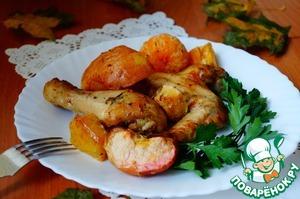 Рецепт Курица по-особому с овощами и фруктами