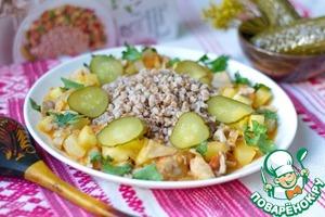 Рецепт Рагу из кабачков с вешенками и помидорами