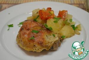 Рецепт Запеченная курица с картошкой