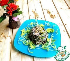Рецепт Салат из куриного филе и риса с ароматной заправкой