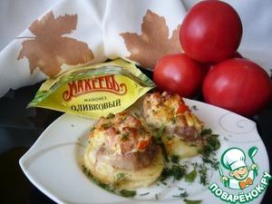 Рецепт Картофельно-мясные башенки, запечённые под соусом
