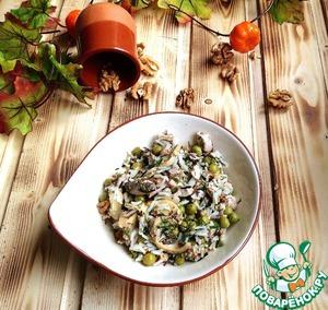 Рецепт Салат из курицы и риса по-деревенски