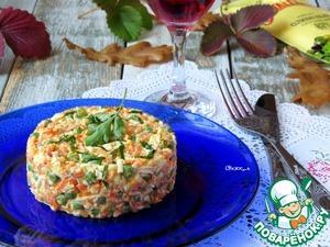 Салат из моркови, зелёного горошка с яйцом вкусный пошаговый рецепт приготовления с фотографиями