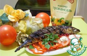 Рецепт Скумбрия гриль с Белым соусом