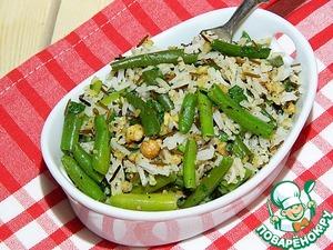Рецепт Жареная стручковая фасоль с орехами и рисом