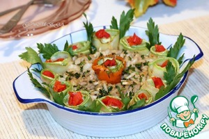 Рецепт Кабачки с орехово-чесночной заправкой