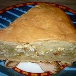 Пирог с капустой и адыгейским сыром