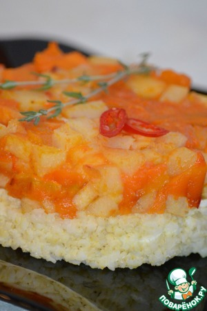 Рецепт Пикантный осенний салат с золотым пшеном