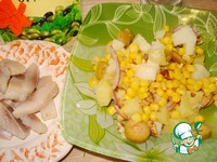 Салат из сельди с кукурузой ингредиенты