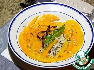 Рецепт Салат из запеченных перцев с кедровыми орехами и рисом