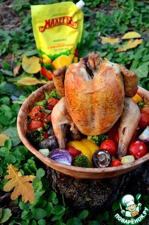 Рецепт Цыпленок с овощами «по-Махеевски»