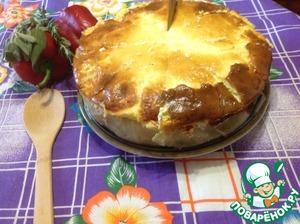 Рецепт Торт из капусты с мясным фаршем и сыром