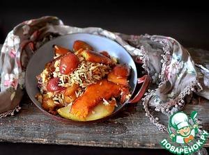 Рецепт Вегетарианский фруктовый плов