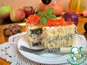 Рецепт Бутербродные тортики с ветчиной и зеленью