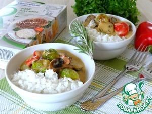 Рецепт Грибная подлива с брюссельской капустой