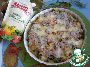 Рецепт Запеканка из брокколи с мясным фаршем и сыром