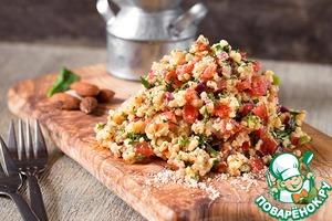 Рецепт Салат из пшена с овощами