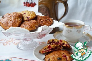 Рецепт Тыквенно-овсяное печенье с клюквой