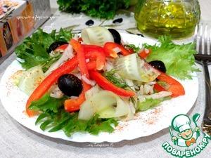 Рецепт Салат из риса с овощами