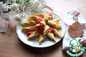 Рецепт Кабачковые вафли с начинкой