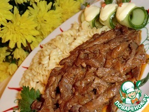 Рецепт Нежная говядина в ароматном соусе
