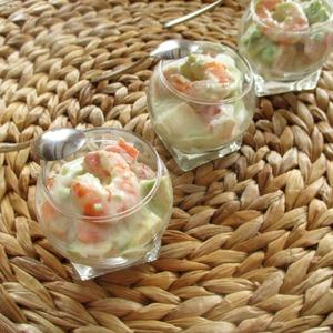 Рецепт Тропический салат с креветками