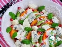 Салат из хурмы, авокадо и голубого сыра ингредиенты