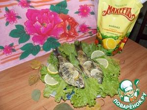 Рецепт Карасики, запечённые в майонезно-горчичном соусе