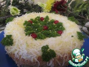 Рецепт Закусочный торт с сайрой