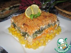 Рецепт Картофельно-рыбная запеканка с морской капустой