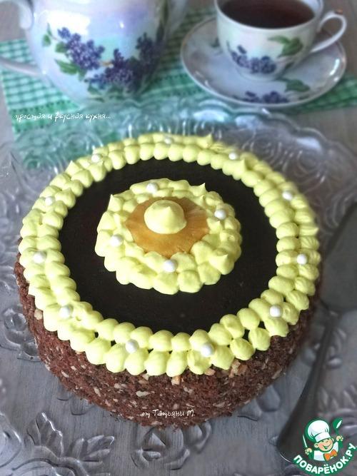 """Трехслойный торт с ананасом """"Для тебя"""""""