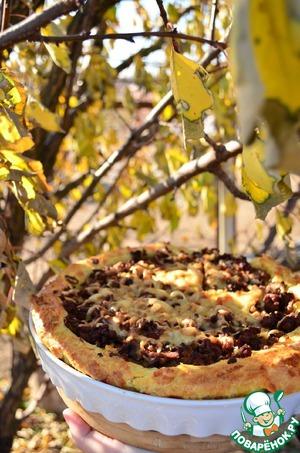 Рецепт Заварной пирог с фаршем и грибами
