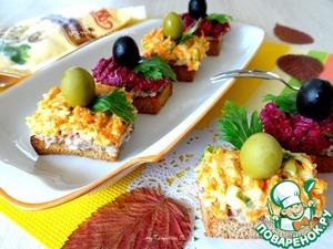 Рецепт Закусочные тосты с овощами и сардиной