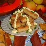 Рисово-рыбные палочки с имбирём и майонезом